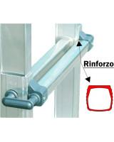 Scala professionale in alluminio Frigerio 1970/18R particolare rinforzo