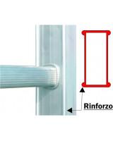 Scala professionale in alluminio Frigerio 1970/18R particolare montante rinforzato