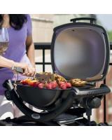 Grill elettrico Weber Q1400 foto del barbecue in funzione