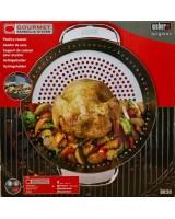 Supporto di cottura per pollo Deluxe Weber in confezione