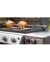 Girarrosto Weber compatibile con Genesis II a 4 e 6 bruciatori con polli in cottura