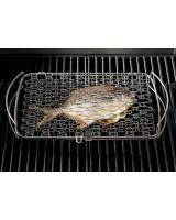 Griglia grande per il pesce Weber 46x28,4 cm con pesce di grandi dimensioni