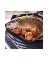 Piatto di cottura Weber -40 x 40 x 3 cm- con grande pesce in cottura