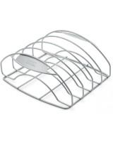 Griglia Weber per costine in acciaio inox -versione grande- su sfondo bianco