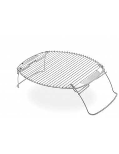 Griglia di espansione Weber in acciaio inox su sfondo bianco