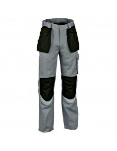 Pantalone da lavoro Cofra Carpenter V064-0-01 grigio-nero