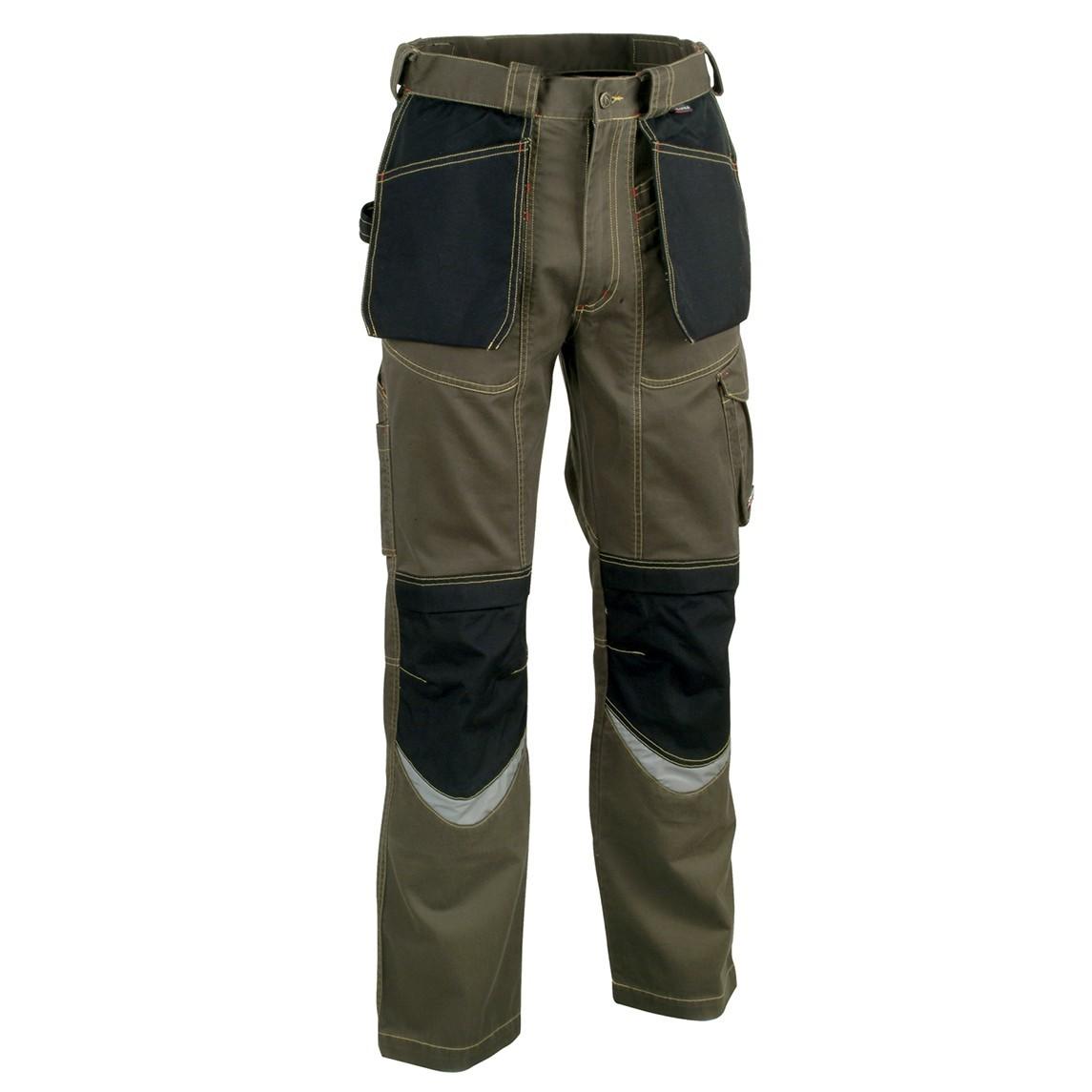 Pantalone da lavoro Cofra Carpenter V064-0-03 fango-nero 39cfaa3711c