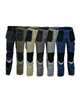 Pantalone da lavoro Cofra Carpenter V064-0-03,fango-nero
