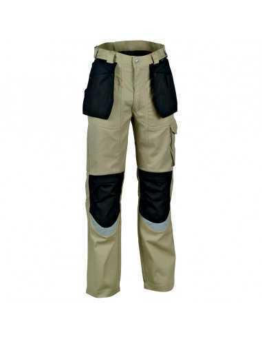Pantalone da lavoro Cofra Carpenter V064-0-00, nero-beige