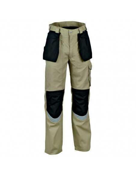 Pantaloni da lavoro Cofra Carpenter V064-0-00, nero-beige