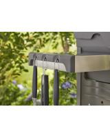 Kit 3 accessori Weber in acciaio inox su sfondo bianco